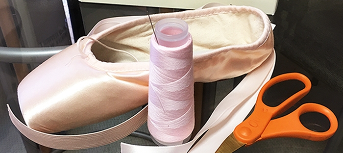 How to Sew Ribbons and Elastics on Pointe Shoes – Vintage